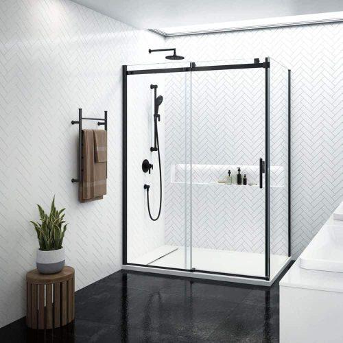 Porte de douche KONCEPT EVO noir