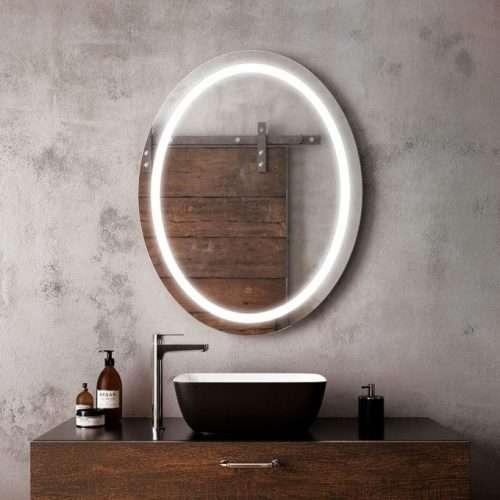 "Miroir LED Ovale 30"" X 38"""