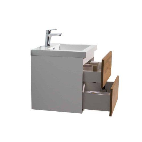 Vanité de salle de bain Fano vue côté