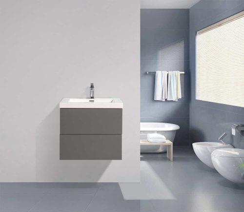 Vanité de salle de bain Fano grise