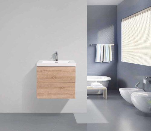 Vanité de salle de bain Fano bois clair