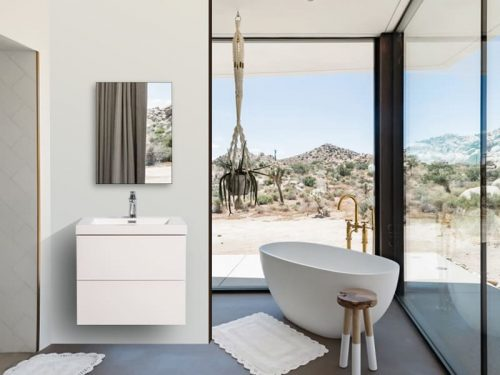 Vanité de salle de bain Fano blanche