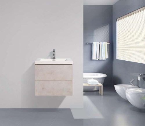 Vanité de salle de bain Fano - ciment