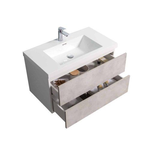 Vanité de salle de bain Torina vue de haut