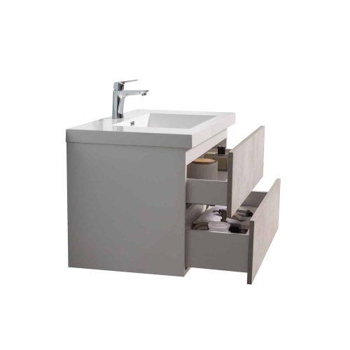 Vanité de salle de bain Torina vue de côté