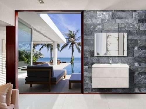 Vanité de salle de bain Torina - ciment