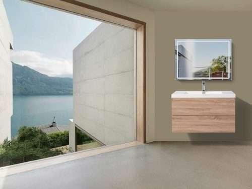 Vanité de salle de bain Torina - bois clair