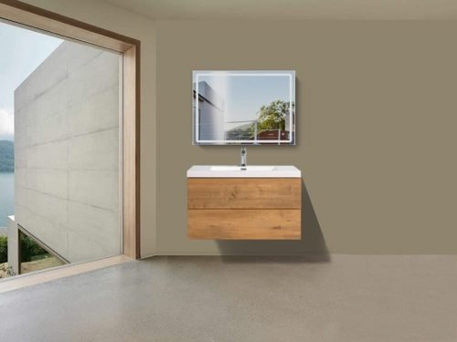 Vanité de salle de bain Torina - bois foncé