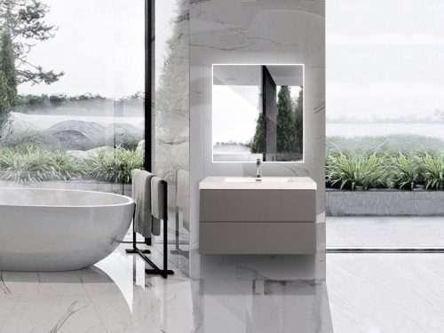 Vanité de salle de bain Torina - gris