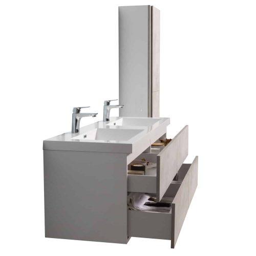 vanité de salle de bain vue de côté