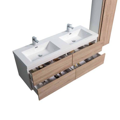 vanité de salle de bain Messina vue de haut