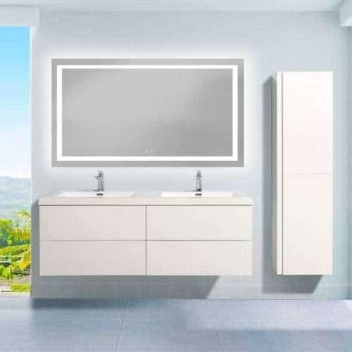 miroir LED chauffant dimensions