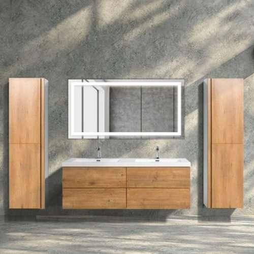 Vanité de salle de bain Lazio - bois foncé