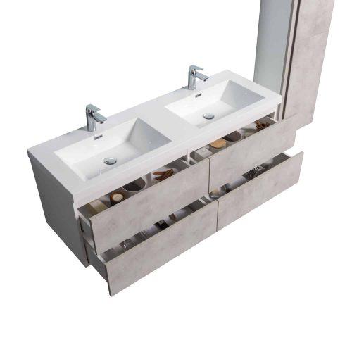 Vanité de salle de bain Lazio vue de haut