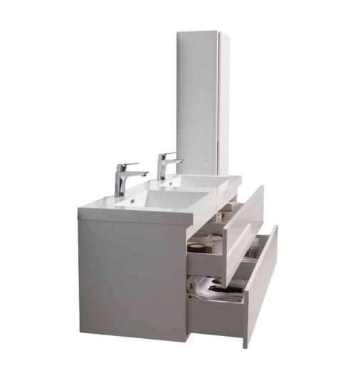 Vanité de salle de bain Lazio vue de côté