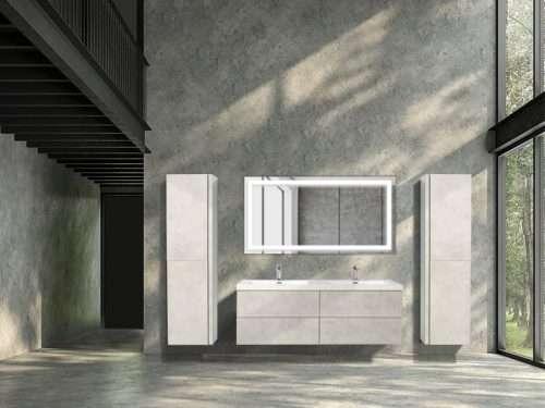 Vanité de salle de bain Lazio - ciment