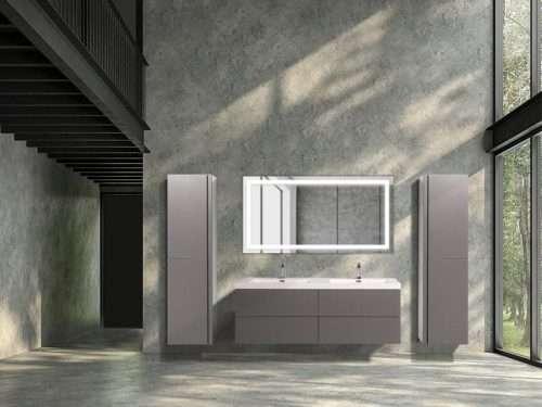 Vanité de salle de bain Lazio - gris