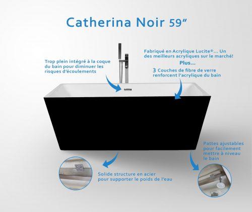 """Bain Catherina noir 59"""""""